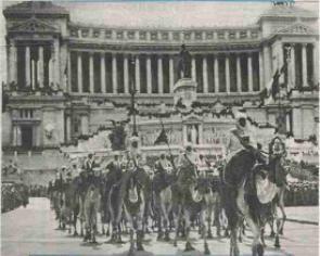 Truppe coloniali sfilano a Roma
