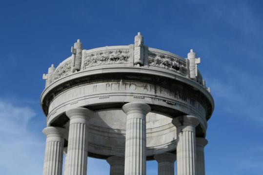 ANCONA Il Monumento particolare die fasci Littori