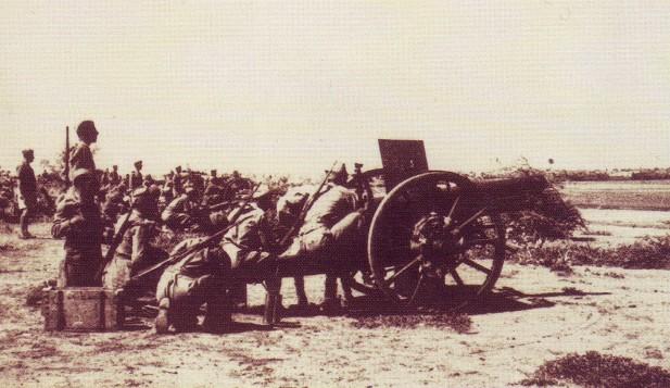 Artiglieria coloniale italiana su Cassala