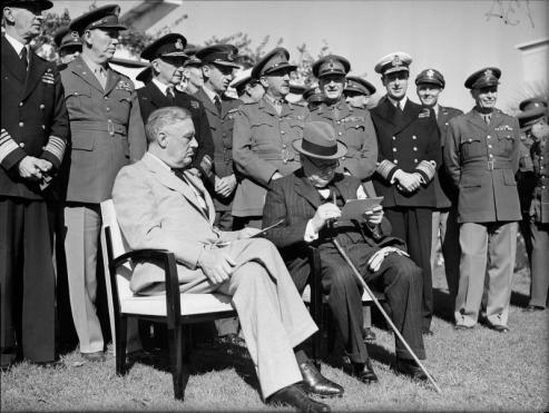 Churchill e Roosevelt alla conferenza di Casablanca