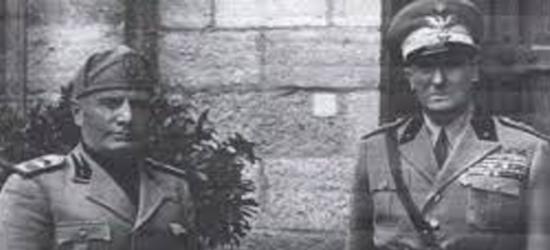Graziani con Mussolini nella Repubblica Sociale