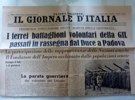 IL GIORNALE D'ITALIA ULTIMA EDIZIONE Venerdì 11 Ottobre 1940 XVIII TRIONFALE .