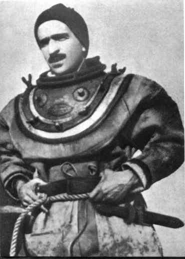 Teseo Tesei, sviluppatore del siluro a lenta corsa in tenuta da palombaro