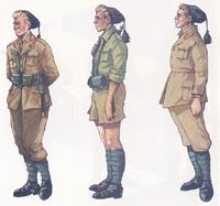 UNIFORMI DEL GRUPPO BTG.GG.FF. Africa Settentrionale 1941