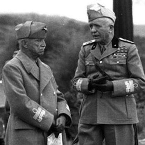 Vittorio Emanuele III e il maresciallo Badoglio