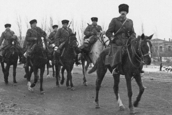 Gruppo squadroni cosacchi Campello sul fronte russo inverno 1942-43