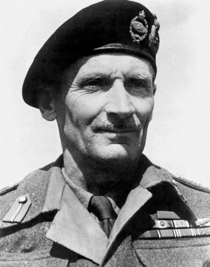 Il generale Montgomery, comandante dell'8ª Armata britannica