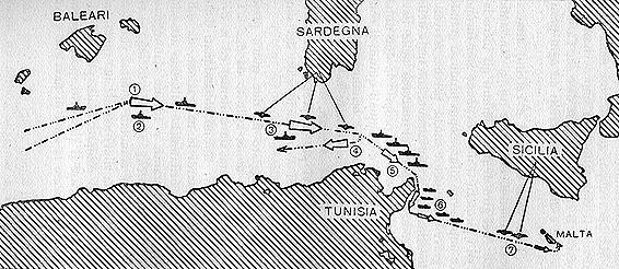 Il tratto di mare dove si svolse la battaglia