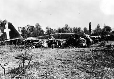 Il velivolo impattato di Bruno Mussolini 2