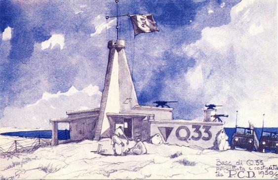 Illustrazione di Paolo Caccia Dominioni di quota 33