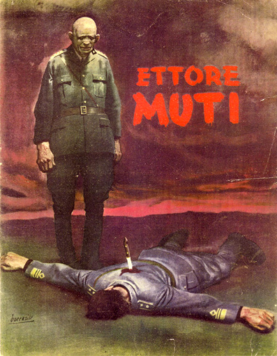 L'assassinio di Muti in un manifesto di Boccasile