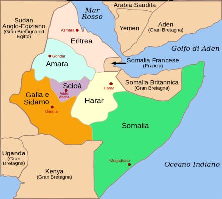 Le provincie dell'Africa Orientale Italiana