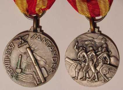 Medaglia concessa ai partecipanti della battaglia di Santander.jpg