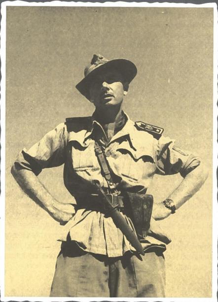 Paolo Caccia Dominioni con il suo inseparabile cappello alpino