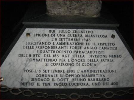 Battaglia dello Zillastro monumento