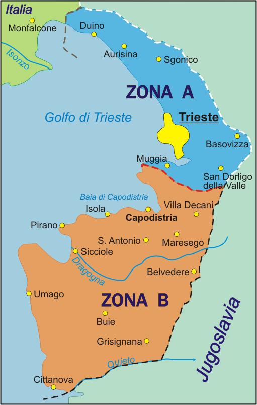 Carta del Territorio libero di Trieste