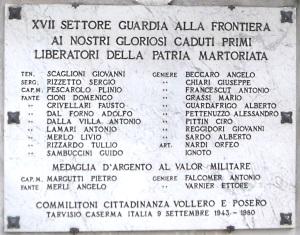Lapide commemorativa Tarvisio