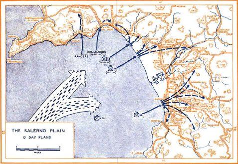 Piano d'invasione Alleato durante il D-Day del 9 settembre