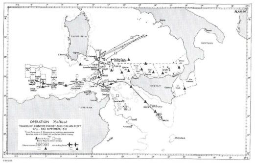 """Ricostruzione dell_operazione """"Halberd"""" dell'Historical Section Admiralty"""