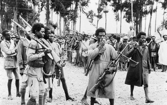 Guerriglieri etiopici ad Addis Abeba liberata nel maggio 1941.