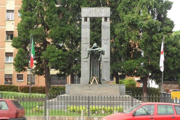 Il monumento eretto a ricordo