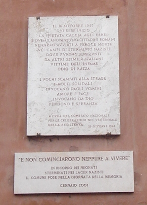 Lapide al ghetto di Roma