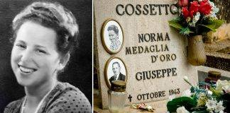 Norma Cossetto e a fianco la sua tomba