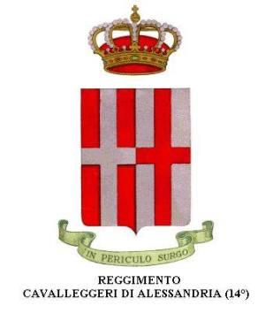 Stemma del 14° Reggimento Cavalleggeri ALESSANDRIA