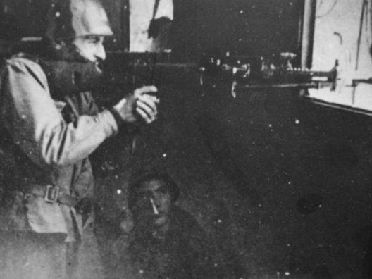 Cecchini della GNR durante la battaglia di Porta Lame