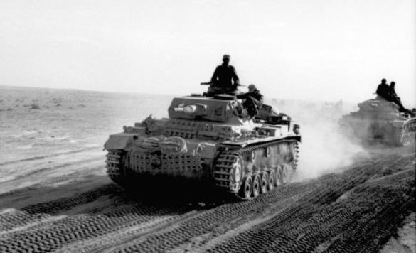 Nordafrika, Panzer III in Fahrt