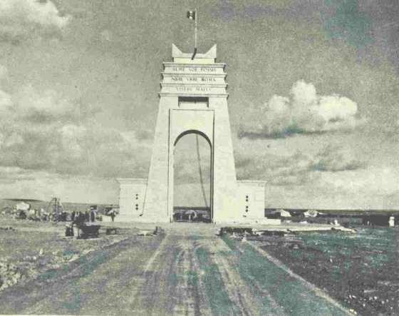 L'arco dei Fileni posto sulla via Balbia al confine fra Cirenaica e Tripolitania