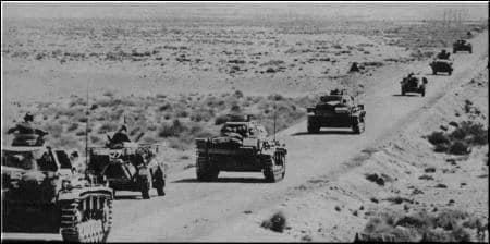 panzer tedeschi transitano sulla Balbia