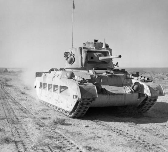 Un carro da fanteria britannico Matilda del 7° Royal Tank Regiment