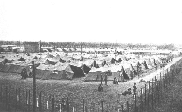 fossoli, il campo attendato per prigionieri inglesi