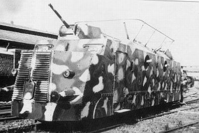 littorina blindata catturata e riutilizzata dai tedeschi dopo l'armisitizio