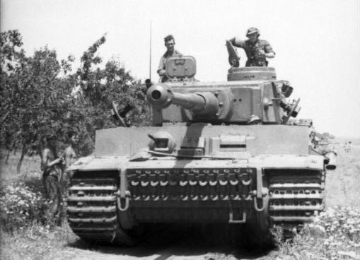 Tiger 1 in Tunisia TAGLIATA