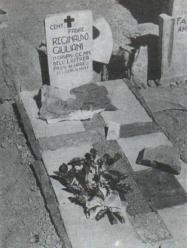 Tomba di padre Reginaldo Giuliani nel cimitero di guerra italiano di Passo Uarieu