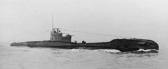Il sommergibile HMS Tempest, affondato dalla Circe il 13 febbraio 1942 TAGLIATO