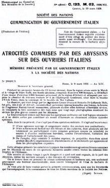 La denuncia del governo italiano alla Società delle Nazioni al seguito dell'eccidio del cantiere Gondranf+.jpg