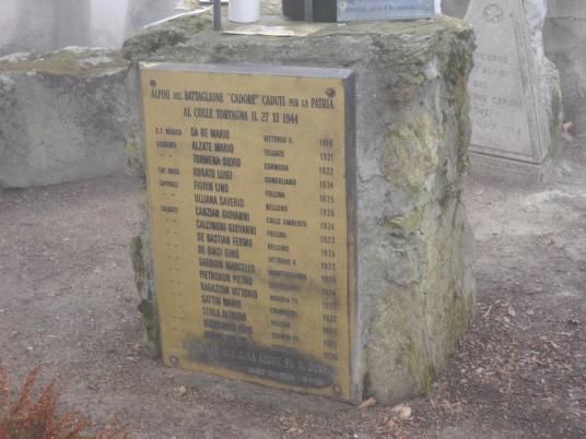 Monumento ai Caduti di Colle Tortagna