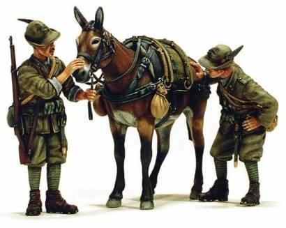 Alpini con mulo