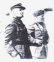 Merico Zuccari comandante della Tagliamento con Mussolini
