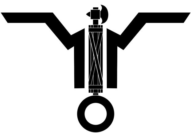 Simbolo della Guardia Nazionale Repubblicana a cui apparteneva la Legione d'assalto Tagliamento