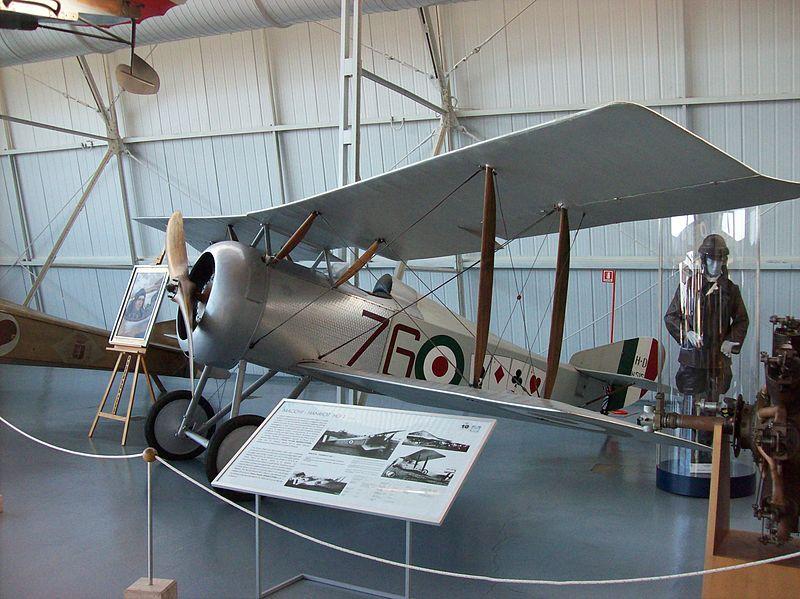Il Macchi-Hanriot HD.1 in dotazione a Flavio Torello Baracchini, ora custodito al Museo Storico dell'Aeronautica Militare, presso Vigna di Valle