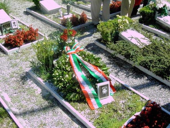 La tomba del sottotenente Luigi Lorenzi
