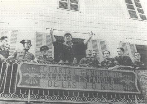 Arconovaldo Bonacorsi a Manacor (Piazza de Sa Bassa), durante la guerra civile spagnola.