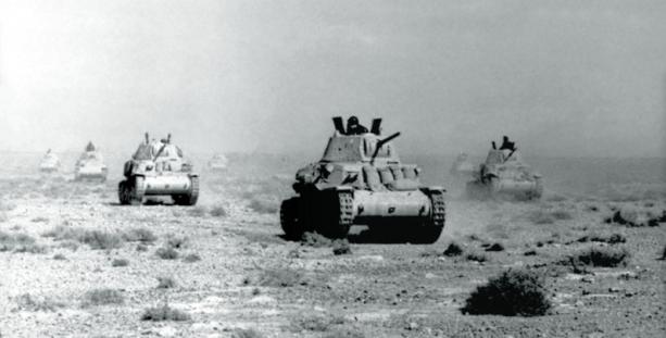 Colonna di carri M 13 40 dell'Ariete Tagliata.jpg