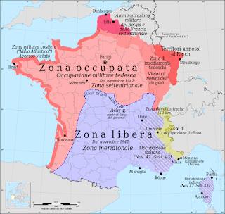 Mappa Francia sconfitta