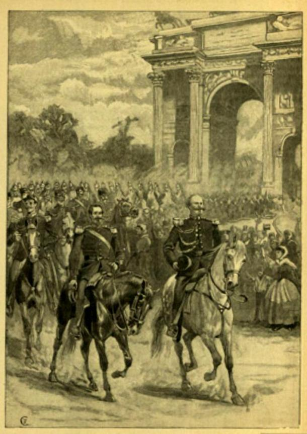 Napoleone III e Vittorio Emanuiele II a Milano
