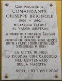 Tarag dedicata da Noli al Comandante Giuseppe Brignole